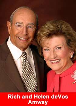 Rich and Helen de Vos, Amway