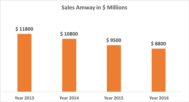 Amway Sales 2013 - 2016