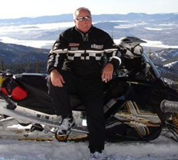 Richard B. Brooke Snowmobiling in Idaho