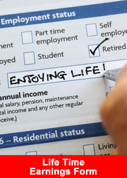 Life Time Earnings Form