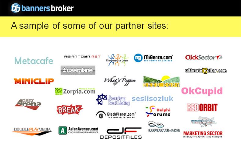 Banners Brokers Partner websites