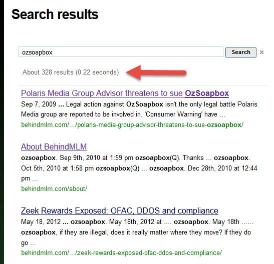 Ozsoapbox.com results