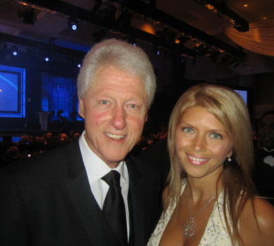 Marina Worre and Bill Clinton
