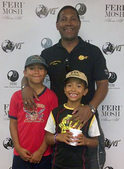 Sean Haynes and his sons