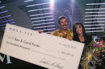 Ken and Carol Porter Monavie Bonus Cheque