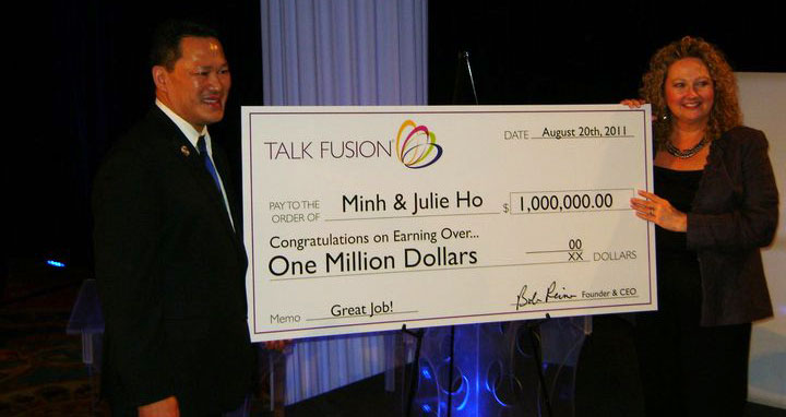 Minh and Julie Ho - Talk Fusion Check