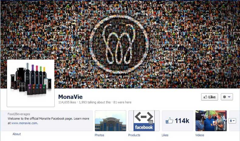 MonaVie Facebook Likes May 2012