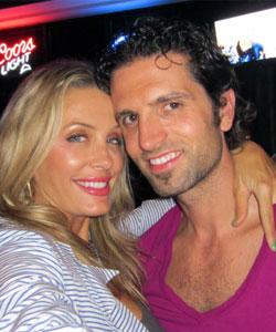Nick Sarnicola and Ashley Riggs