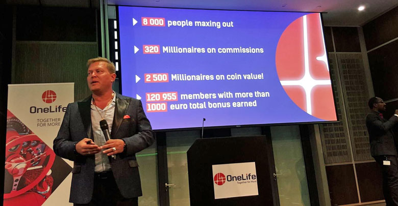 Onecoin millionaires overview London UK 2016