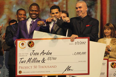 Jose Ardon $2 million check