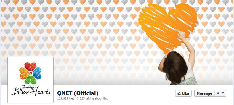 Qnet Facebook likes