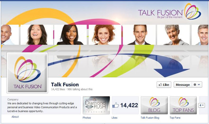 Talk Fusion Facebook Likes May 2012