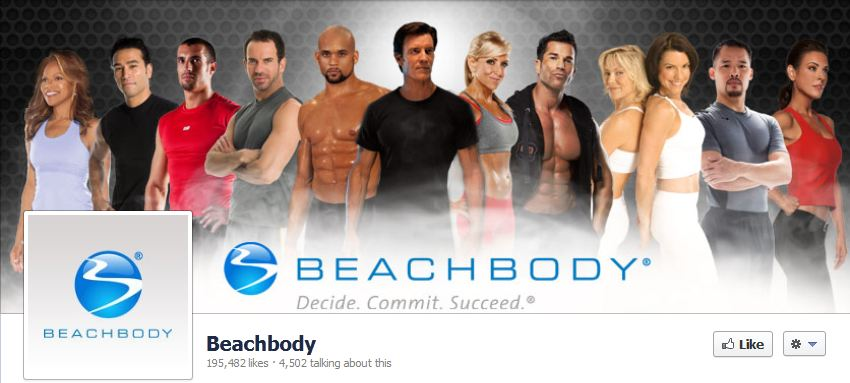 Facebook likes Team Beachbody July 2012