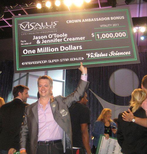 Jason O'Toole 1 Million Bonus - ViSalus