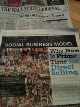 Post image for Direct Selling featured in Wall Street Journal!